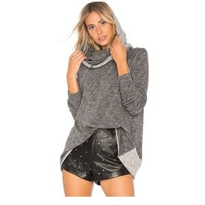 Free People Beach Gray Cacoon Cowl Neck Pullover